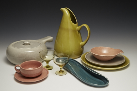 Russel Wright brightly colored dinnerware & Gregg Museum collection featured in modernism exhibition at the ...