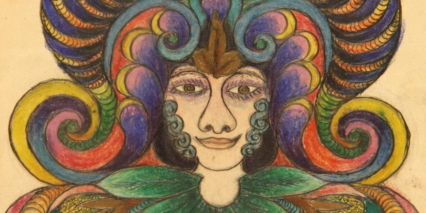 Minnie Evans drawing (detail)
