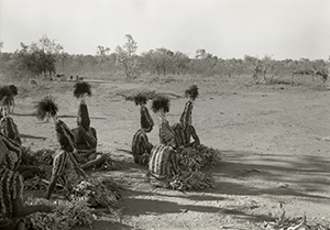 Photo of costumed Aborigines