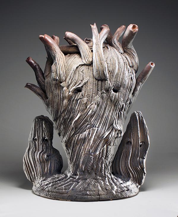 Cold Heart, 2018 Ceramic sculpture resembling a human heart