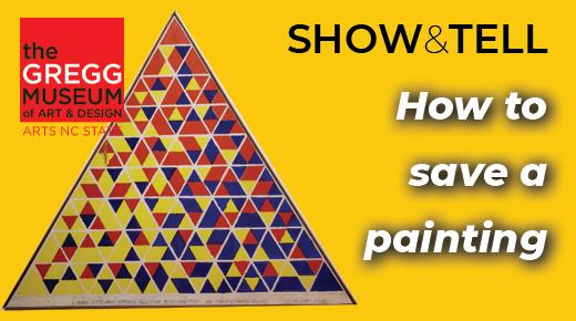 Triangular painting on left