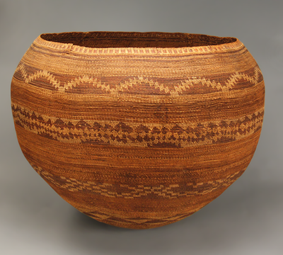 Woven basket by the Pomo people