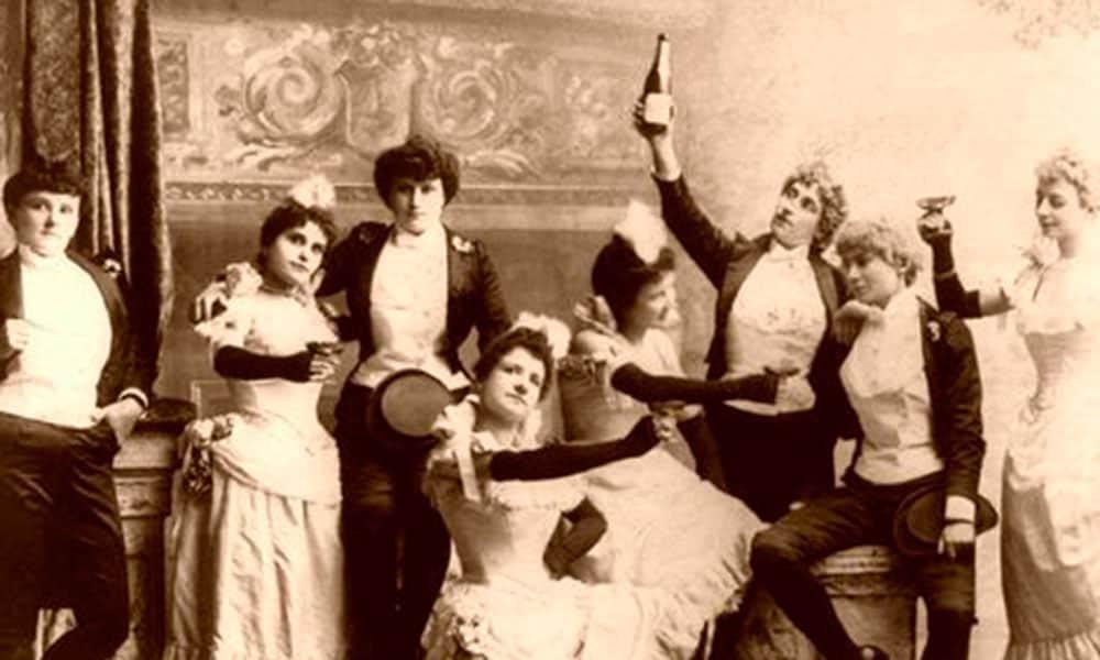 vintage photo of saloon girls